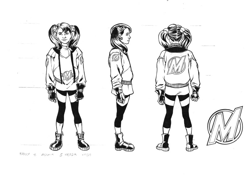 Molly's character design.
