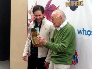 Terry Dougas (left) and Stan Lee.