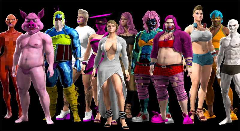 Whether it's short or tall, fat or thin, male, female, or somewhere in between, Saints Row IV lets you be the Boss of your wildest dreams. [via Saints Row Character Gallery]