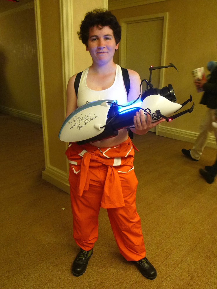 Gia as Chell from Portal