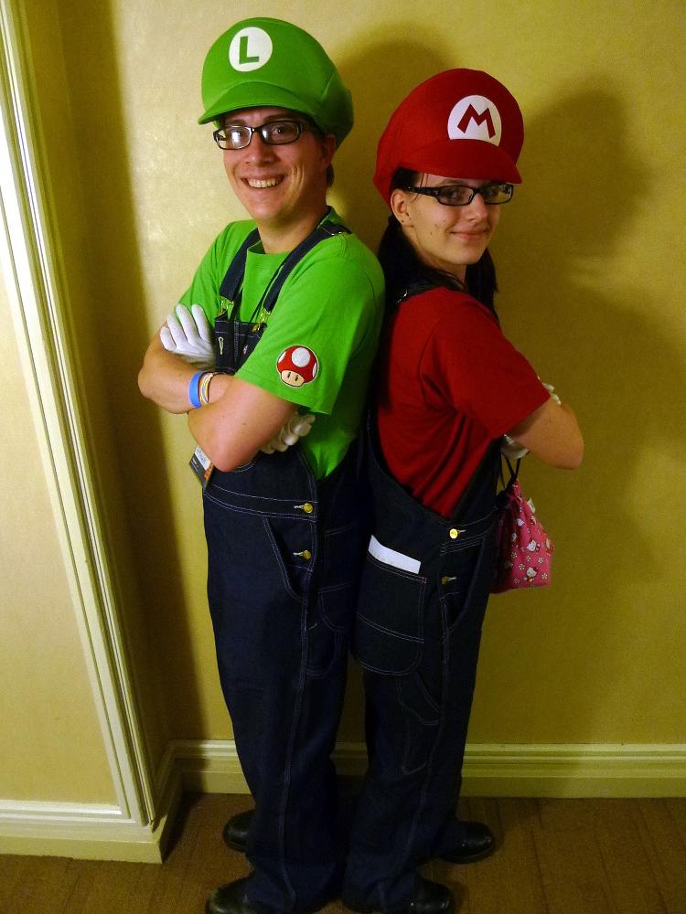 William and Alexa as Luigi and Mario