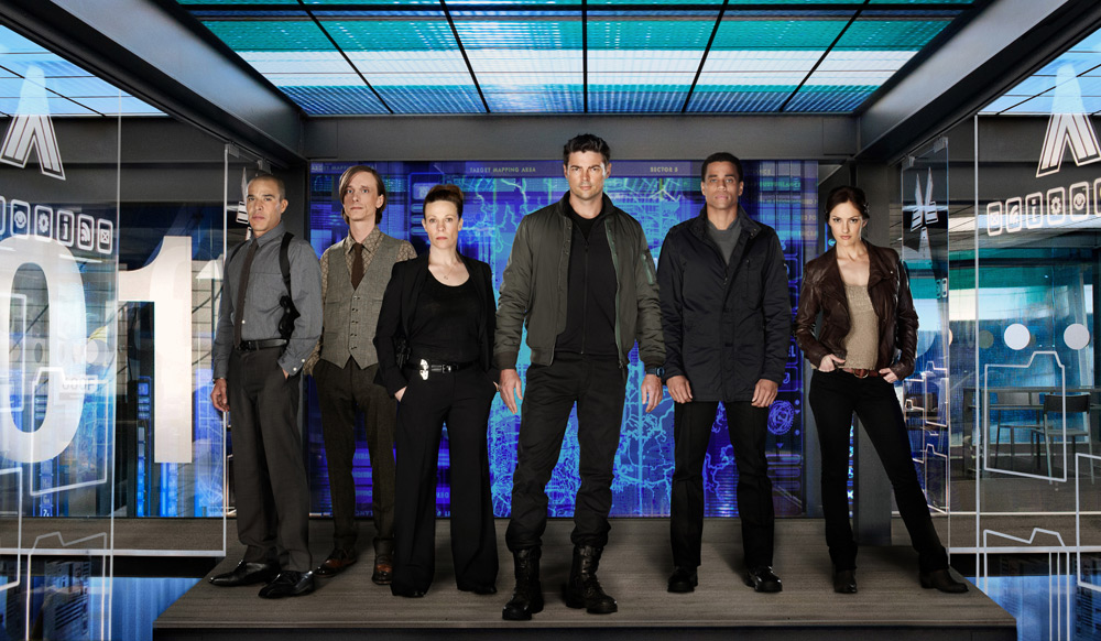 Image of the cast of Almost Human